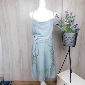 Free People Light Blue Patterned Dress